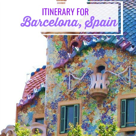 itinerary for Barcelona Spain